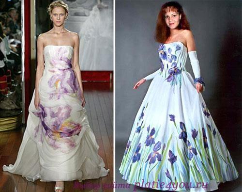 Свадебное платье в стиле батик