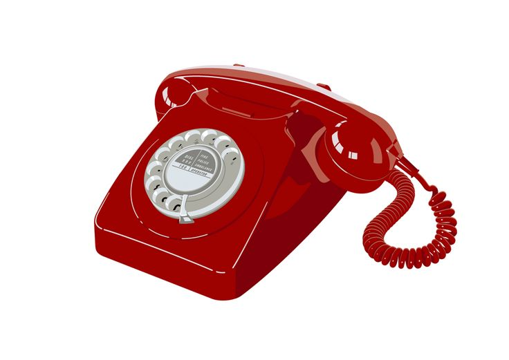 746 Telephone – Red