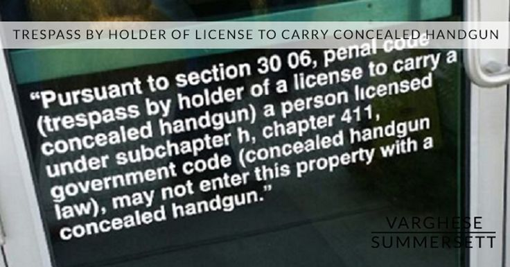 Trespass by Holder of License to Carry Concealed Handgun