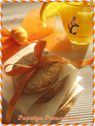 portakallı bademli bisküvi