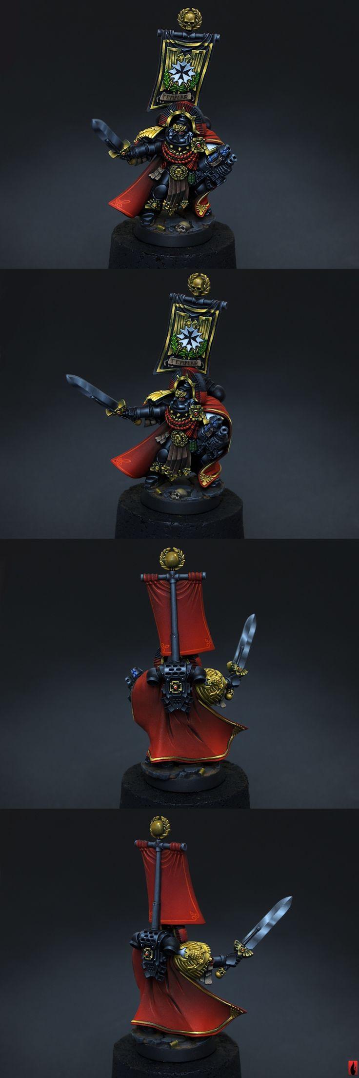 40k - Black Templars Space Marines Capitan by Flameon