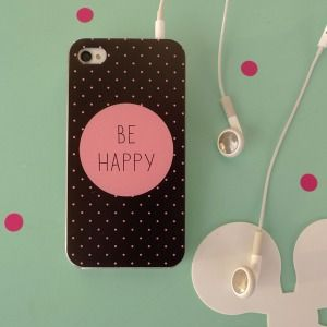 "Coque iPhone 4 ""Be happy"""