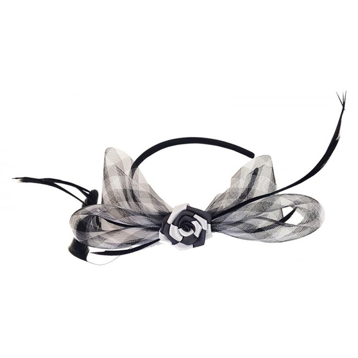 Black & White Fascinator