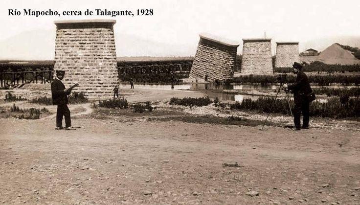 Rio Mapocho serca de Talagante 1925