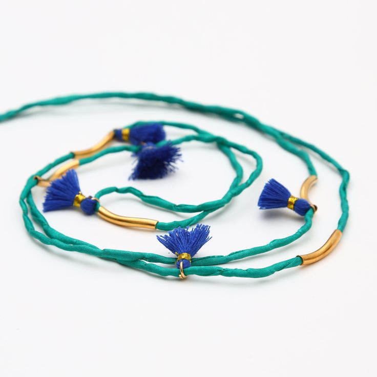 The Kasbah Green Long Necklace by Hermina Wristwear - Project J