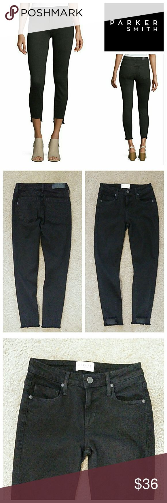 """Parker Smith Twisted Seam Skinny Jeans Figure flattering and comfy jeans with a little edge. These are in excellent co and come from a smoke-free, pet-free clean home. Waist Laid Flat - 13"""" Hips Laid Flat - 17"""" Rise - 8.5"""" Inseam - 26"""" 💥 Reasonable Offers Accepted 💥 PARKER SMITH Jeans Skinny"""
