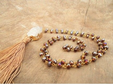 Honey Rosary Necklace