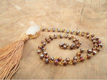 Honey Rosary Necklace
