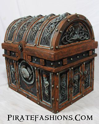 Got a lovely old chest from DD for Christmas. Now I'm agonizing over how much to modify it.  http://piratefashions.com/collections/treasure-chest