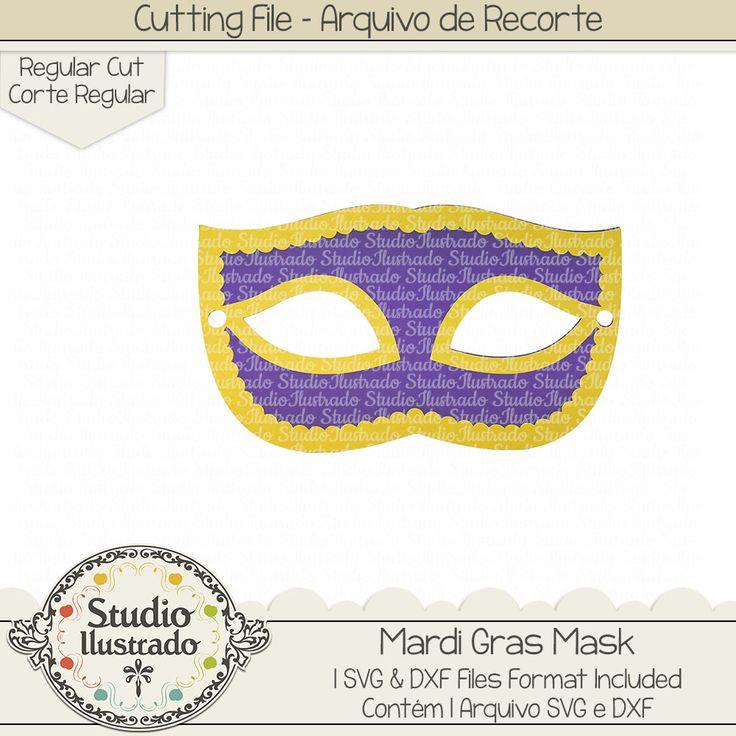 Mardi Gras Mask, Mardi Gras, Mask, Carnaval, New Orleans, arquivo de recorte,  corte regular, regular cut, svg, dxf, png, Studio Ilustrado, Silhouette, cutting file, cutting, cricut, scan n cut