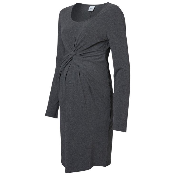 MAMA LICIOUS Zwangerschaps jurk JEN LS JERSEY DRESS Medium Grey Melange