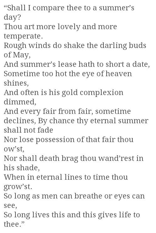 a comparison of sonnet 73 and sonnet 116 by william shakespeare 2008-2-10 free essays on comparison of shakespeare  comparison between shakespeare's sonnet 18 and sonnet 73  the poem sonnet 116 by william shakespeare which.