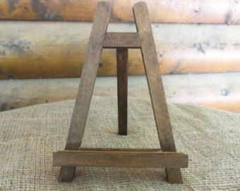 Large Rustic Chic Table Top EASEL   Natural Or Rustic Stain
