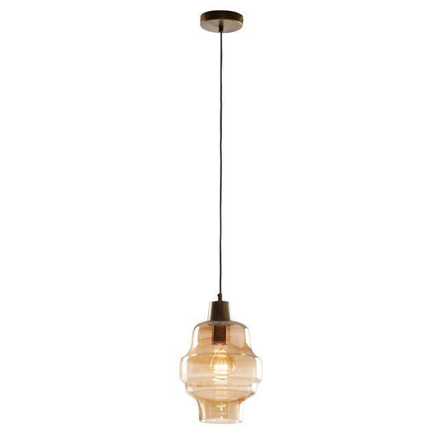 Lampe Suspension Covell, ambre KAVEHOME