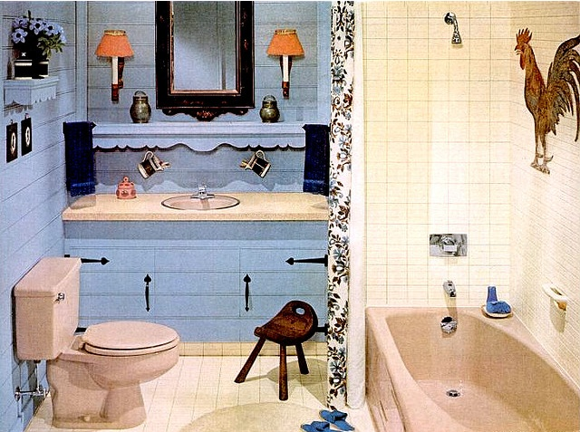Modern Classic Bathroom - why the rooster??