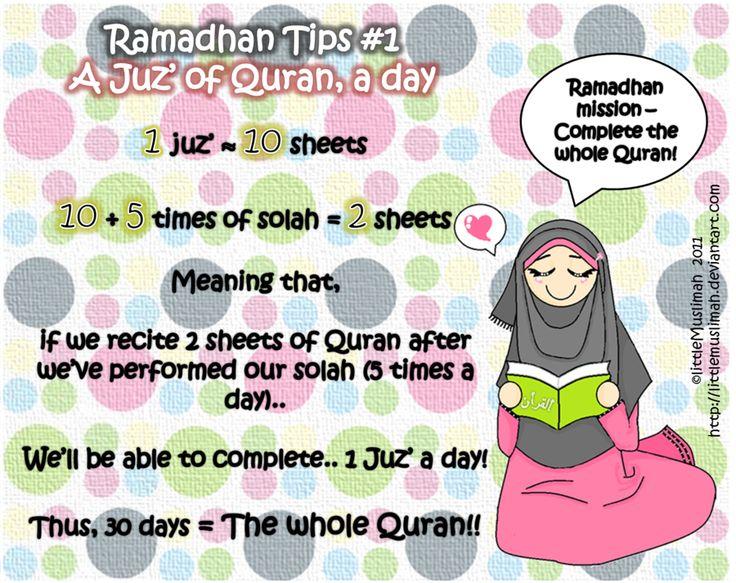 Ramadhan Tips 1 by littleMuslimah.deviantart.com on @deviantART