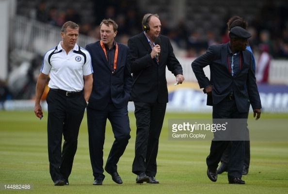 News Photo : Test Match Special team Alec Stewart, Phil...