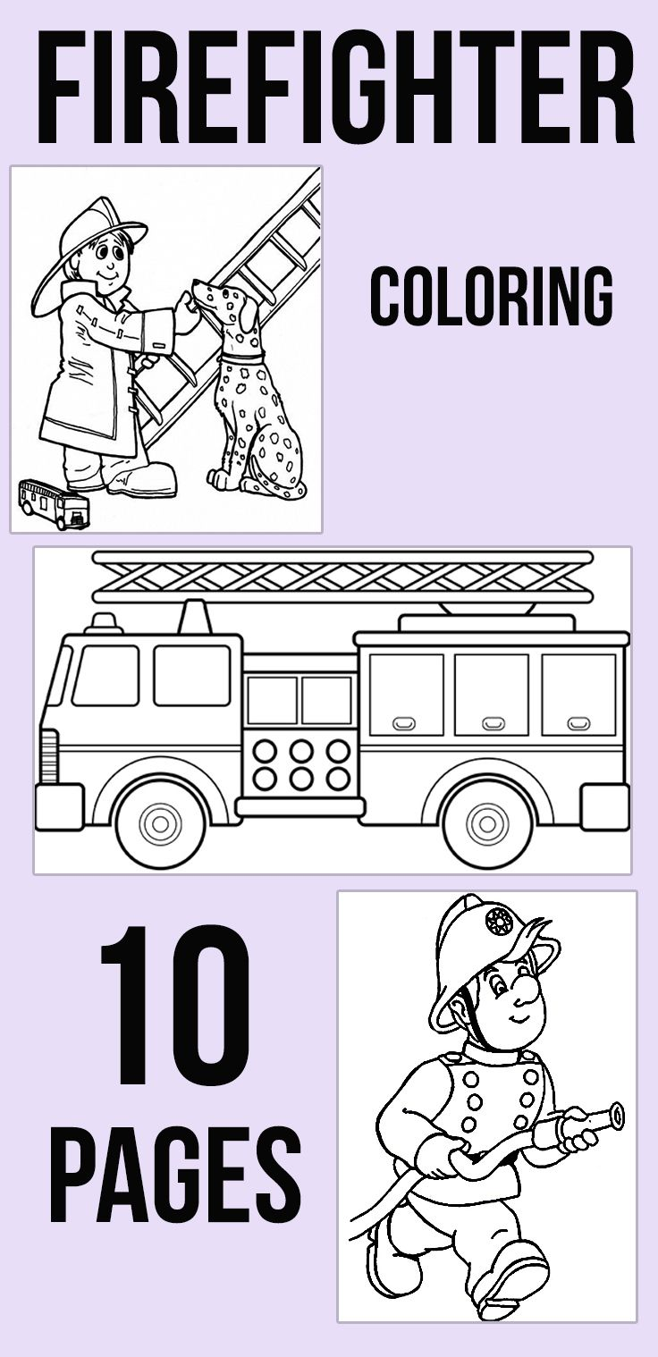 Firefighter coloring pages free printables firefighter for Firefighter coloring pages printable