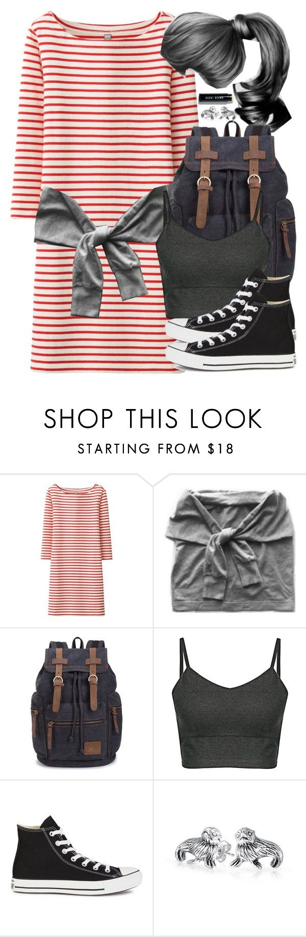 """Ron Weasley Inspired Outfit w/ Requested Dress"" by hpstyle ❤ liked on Polyvore featuring Uniqlo, Nina B, Converse, Bling Jewelry and Bobbi Brown Cosmetics"