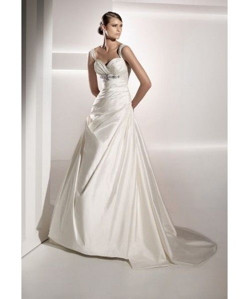 New In Trend Sweetheart Neckline Wedding Garments With Beading Embellishment And Ruche Details Quality Unique Dresses