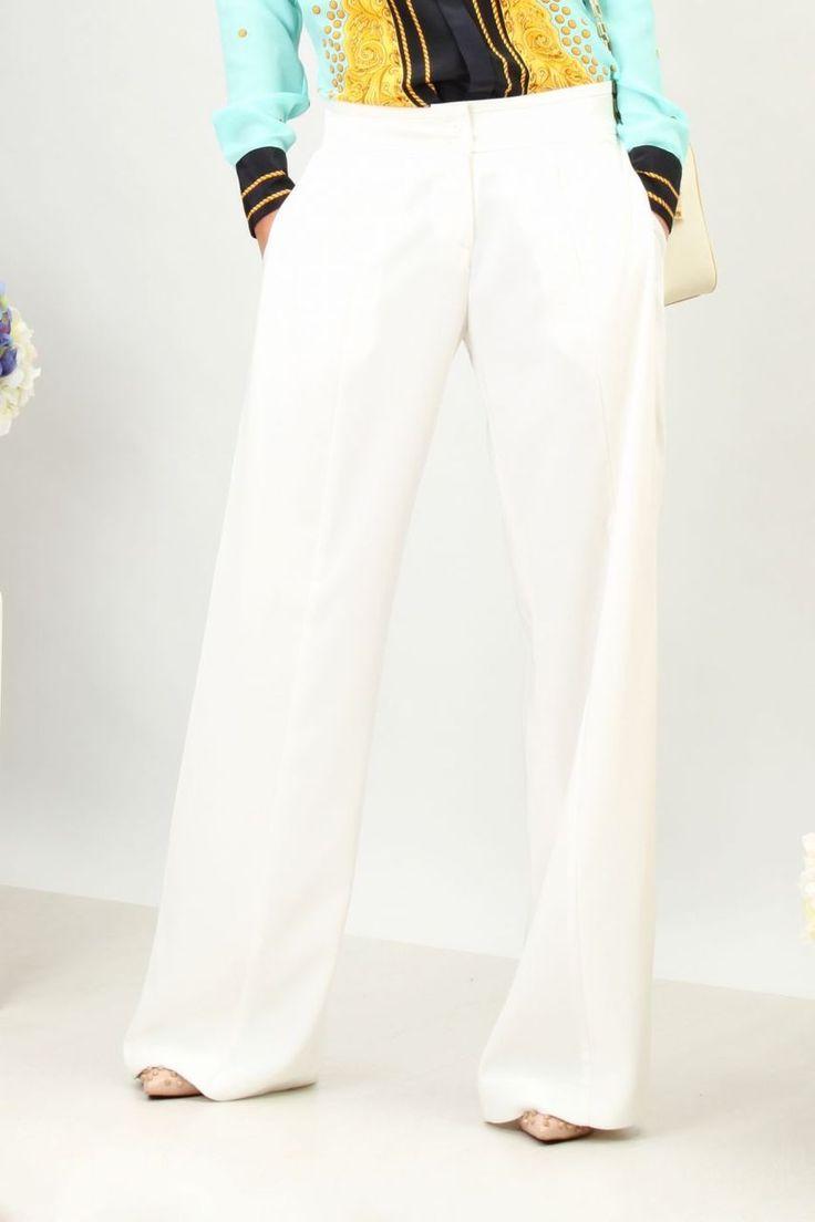Wide Leg White Trousers - Baronesa Fashion House