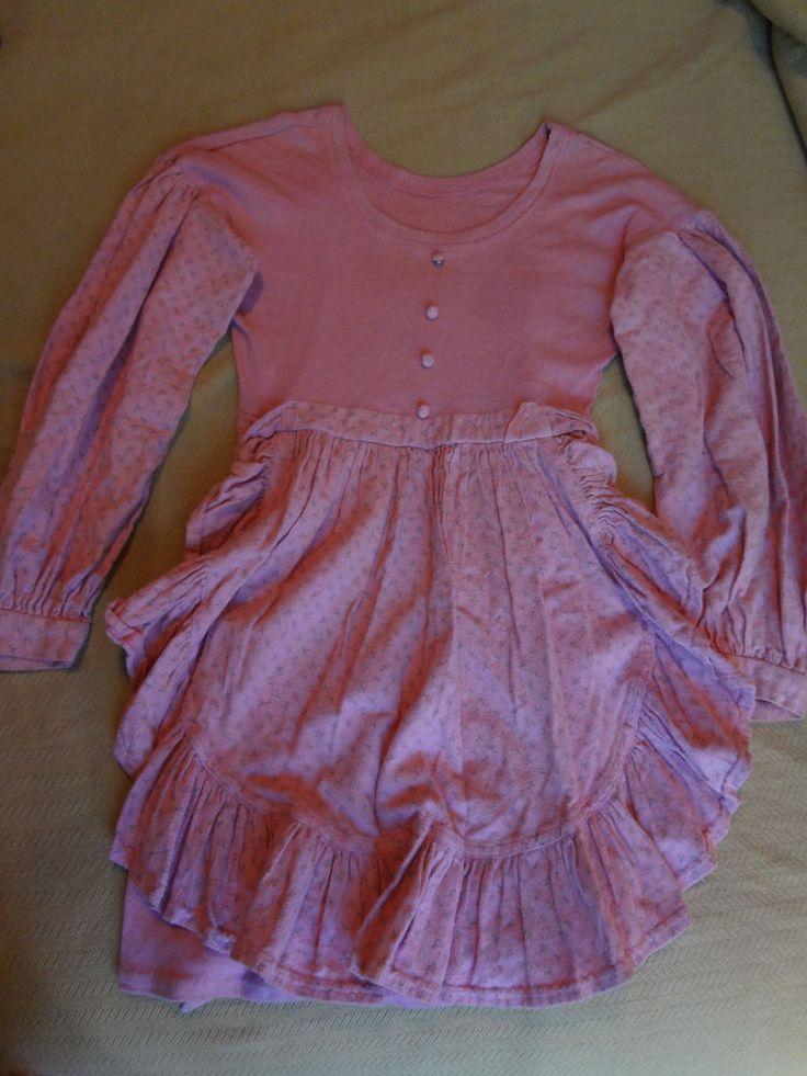 Early 90s Vintage Betsey Johnson Pink Over Dye Drop Puff Apron Mini Dress Sz P  #BetseyJohnson #PinkApronBabydollShortDress