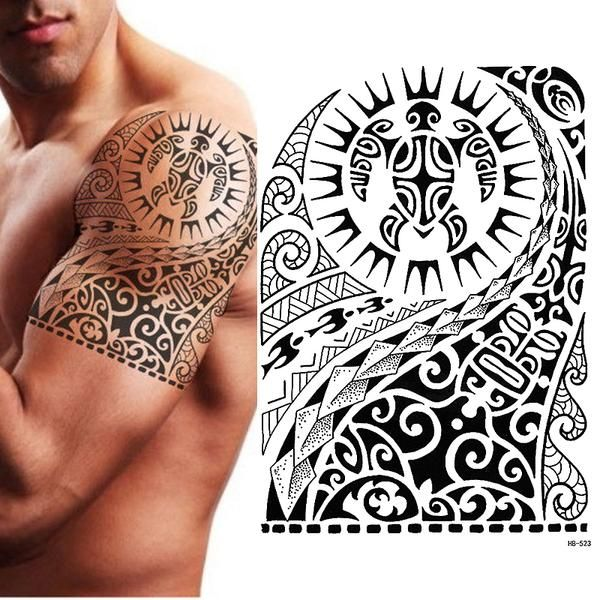Type Temporary Tattoo Brand Name Manzilin Model Number Hb523 Size 15 21cm Type Tattoos On Transfer P Maorie Tattoo Oberarm Oberarm Tattoo Manner Oberarm Tattoo