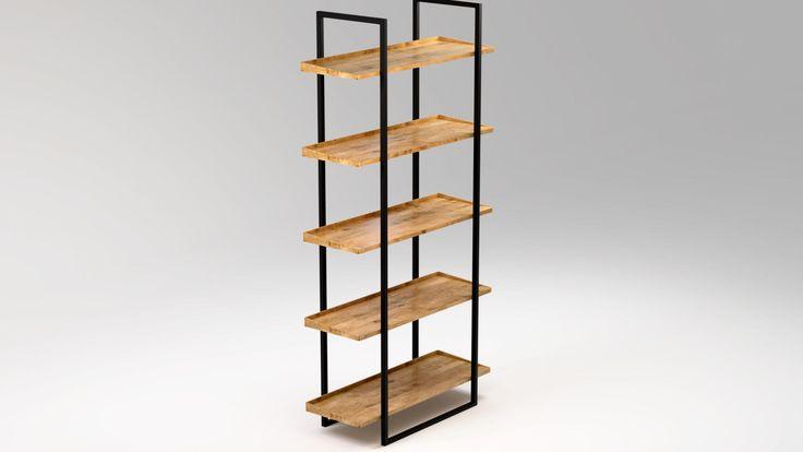 Regał NIVÅ, contemporary industrial bookcase