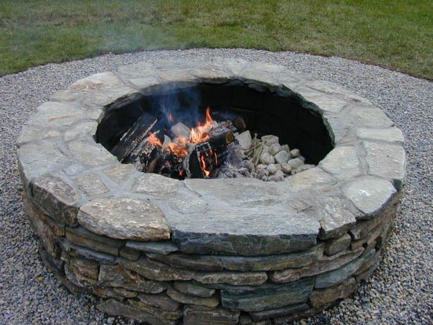 how to set capstones for a fire pit