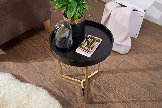 Affiliatelink Finebuy Design Beistelltisch Give Mit Tablett Weiss
