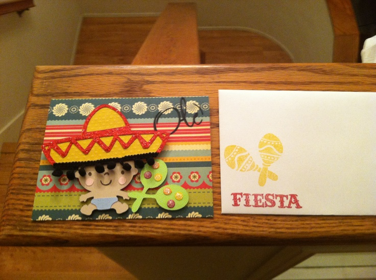 Mexican baby shower invitation I made.