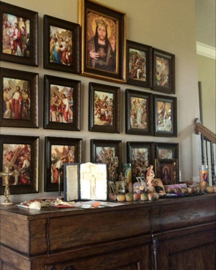 837 best catholic stuff images on pinterest for Catholic decorations home