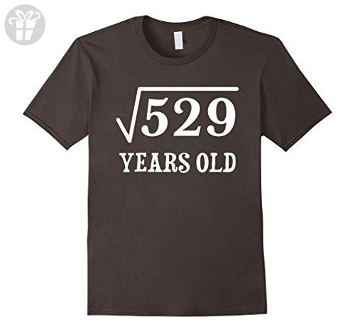 Men's Square Root of 529 23 yrs years old 23rd birthday T-Shirt Large Asphalt - Birthday shirts (*Amazon Partner-Link)