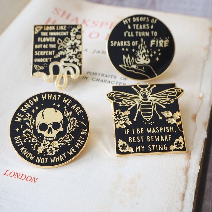 Shakespeare's Heroines Enamel Pin Set – Literary Emporium