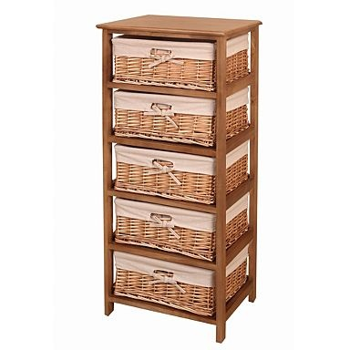 Natural 'Wood and weave' five drawer chest - Was £160 - Storage - Furniture - Home & furniture -