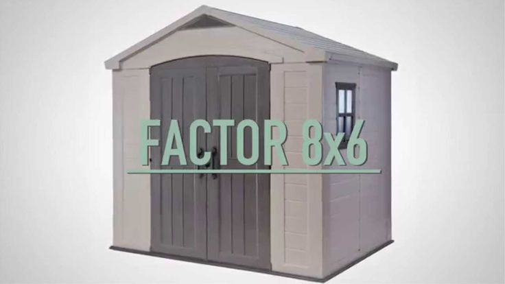 Keter Factor 8x6 Shed. Read an in-depth review:
