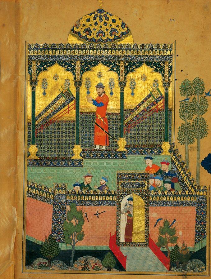 Faramerz mourning the death of his father Rostam and his uncle Zavareh سوگواری فرامرز بر مرگ پدرش رستم و عمویش زواره
