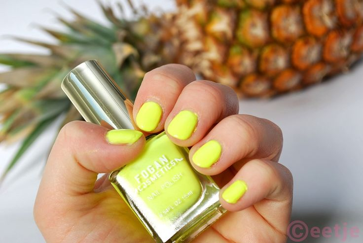 Fogan Cosmetics nagellak neon geel nr. 25