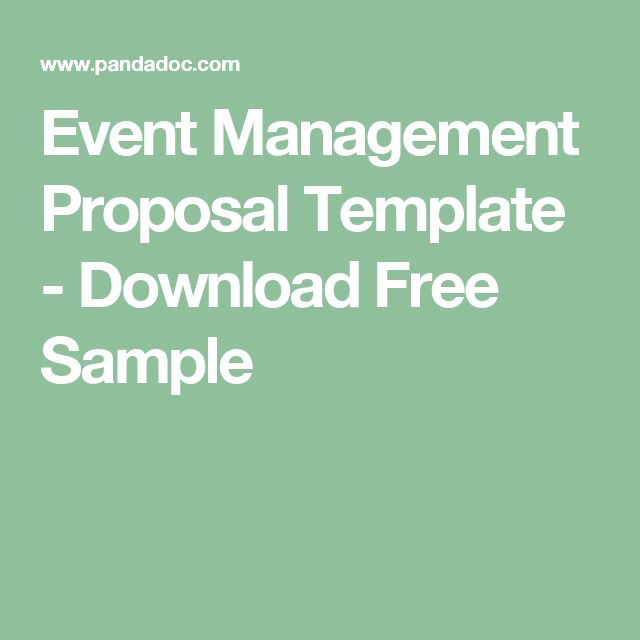Event Management Proposal Template - Download Free Sample - event proposal template