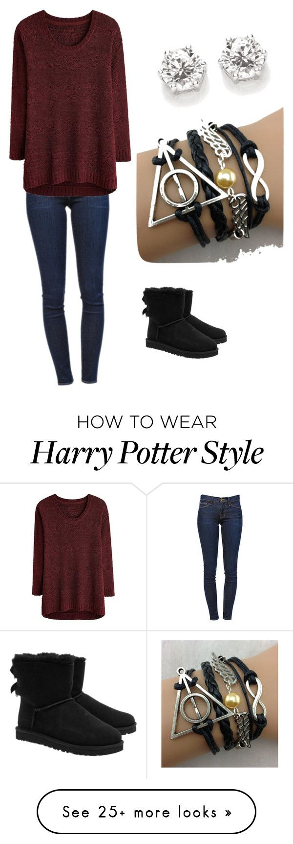"""Untitled #1"" by sarahgullion on Polyvore featuring Frame Denim and UGG Australia"