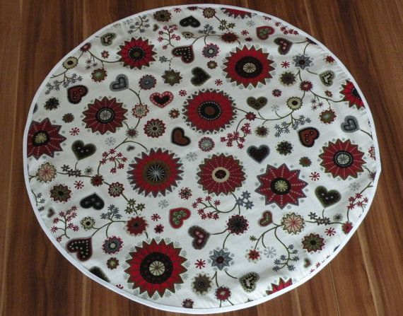 Christmas Tree Skirt   Scandinavian christmas by CloserToNature