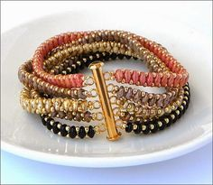 superduo stranded bracelet - Beadtales סיפורים חרוזים: חדש -