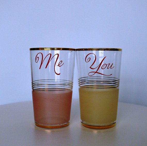 Vintage Glasses for You and Me Lovely English by YeOldeEngland,