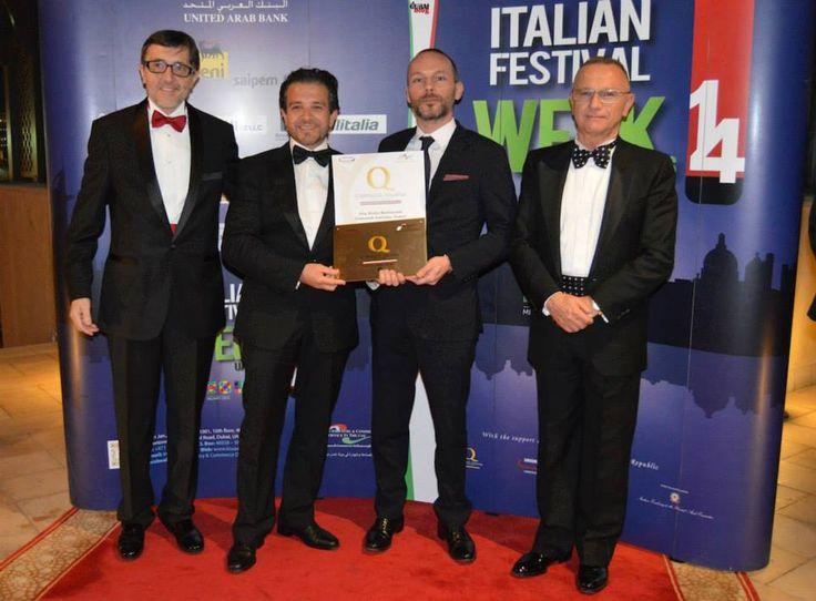Premiazione Ristoranti Italiani nel Mondo, Dubai, dicembre 2014
