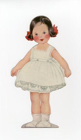 76.1095: Lora Lou | muñeca de papel | Muñecas de papel | Muñecas | Colecciones en línea | El fuerte