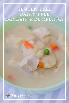 Chicken & dumplings. Gluten free and dairy free chicken and dumplings