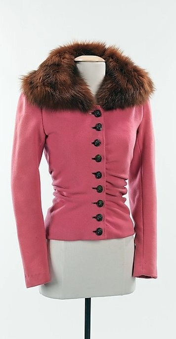 Schiaparelli Jacket - FW 1938-39 - House of Schiaparelli (French, 1928-1954) - Design by Elsa Schiaparelli (Italian, 1890-1973) - Wool, fur, plastic - The Metropolitan Museum of Art