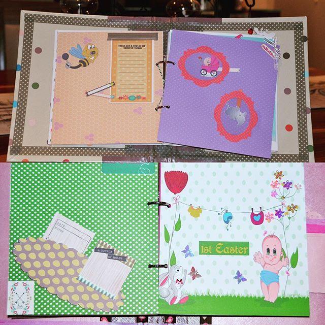 Baby Girl Mini Album @theartofcreativitystudio #minialbum #babyshower #babygirl #baby #scrapbooking #handmade