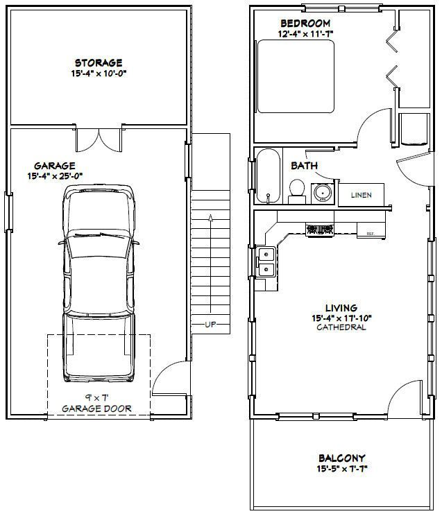 16x36 Tiny House -- #16X36H10A -- 744 sq ft - Excellent