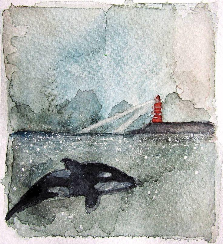 Me encantan los días tormentosos como hoy :) Hecho con cuarela y un poquitín de acrílico blanco   #acuarela #ballena #dibujo #arte #acuarelas #dibujos #artista #ilustración #whale #art #artist #artwork #orca #draw #drawing #drawings #watercolor #watercolour #watercolors #illustration #young_artists_help #kidsillustration #myart #instaart #drawsofinsta #sea #ocean #lighthouse #faro #océano